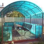 Беседка 4x3 разборная из поликарбоната с садовой мебелью в г. Ногинск