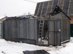 Металлический гараж в г. Куровское