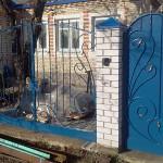 Кованые распашные ворота и кованая калитка в г. Куровское