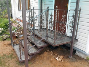 Кованая лестница с ограждениями в г. Павловский Посад