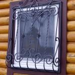 Кованые решетки на окна в дер. Анциферово