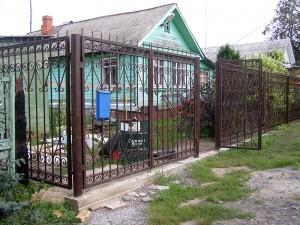 Кованые ворота и кованая калитка в дер. Анциферово