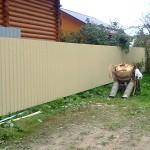 Забор из профнастила в г. Ногинск