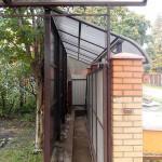 Навес над сдвижными воротами в дер. Кудыкино