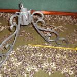 Кованая подставка серебристая диаметр под новогоднюю ёлку