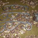 Кованая подставка серебристая разобранная под новогоднюю ёлку